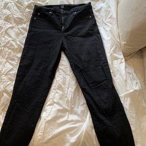 Gab black skinny jeans